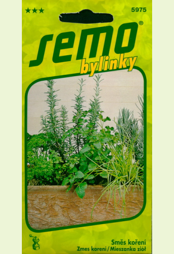 Mixture of herbs for growing in a container